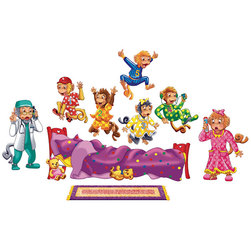 Precut Felt Storytelling Set, Five Monkeys Jumping on the Bed