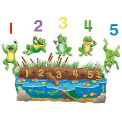 Precut Felt Storytelling Set, Five Speckled Frogs