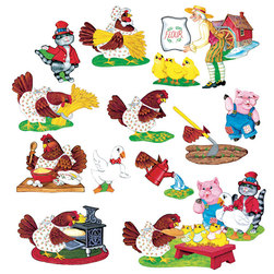 Precut Felt Storytelling Set, Little Red Hen
