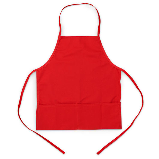 Little Chef Apparel - Kid's Jr. Bib Apron, Red