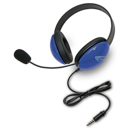 Califone® Listening First™ Headsets with To Go™ Plug - Blue