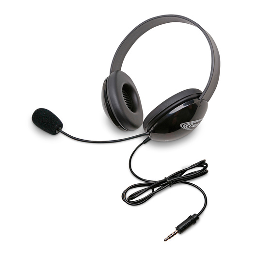 Califone® Listening First™ Headsets with To Go™ Plug - Black
