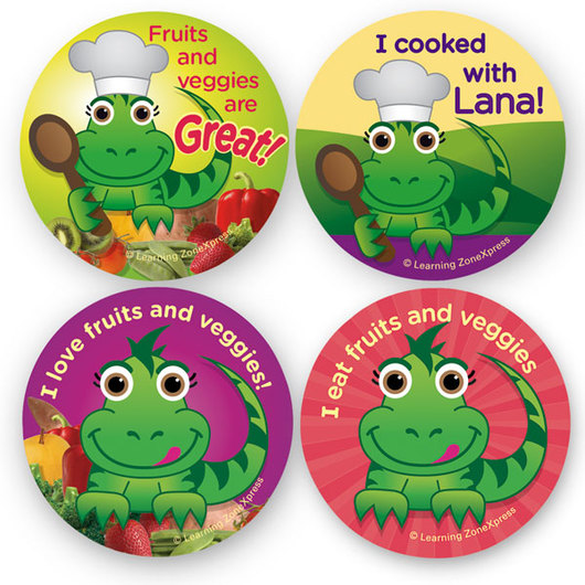 LANA Fruit and Veggie Stickers
