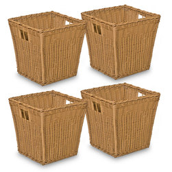 Wood DesignsNaturalEnvironments Set of 4 Medium Wicker Baskets