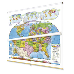 U.S. and World Map