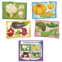4 in 1 Puzzles, Vegetables and Colors