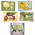 4-in-1 Puzzles - Vegetables and Colors