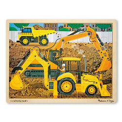 Melissa & Doug Fresh Start Wooden Jigsaw Puzzle, Construction