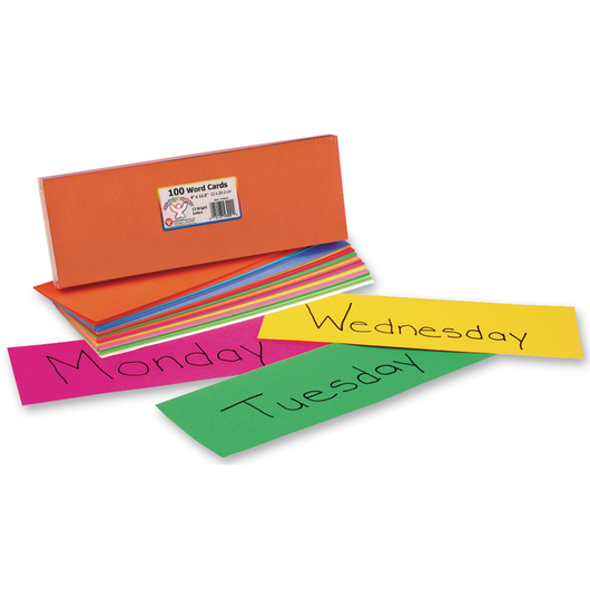 Word Wall/Pocket Chart Cards - 4 in. x 11-1/2 in. - Set of 100