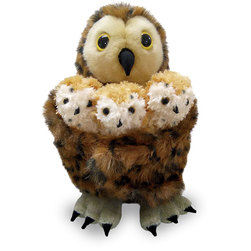 Mother Owl with Babies Storytelling Puppet
