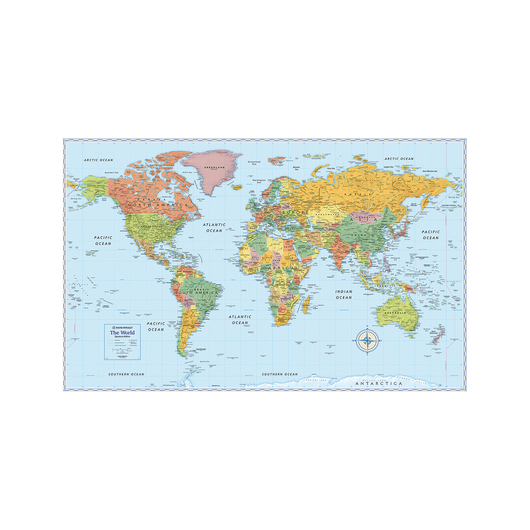Rand McNally's Signature World Wall Map - 50 in. x 32 in.