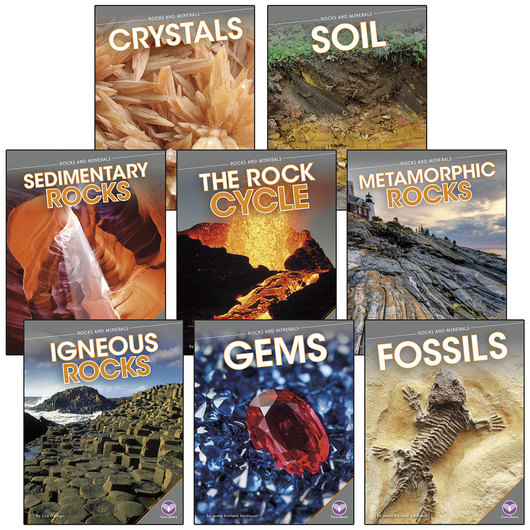 Rocks and Minerals Books - Set of 8
