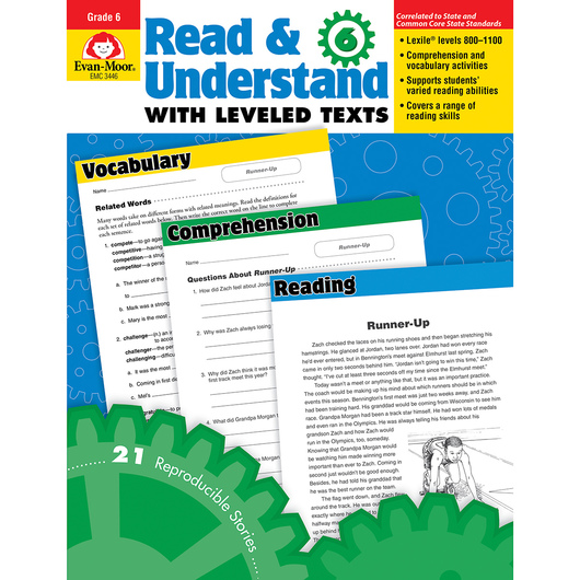 Read and Understand with Leveled Texts - Grade 6