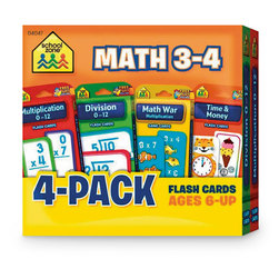 Math Flash Card 4-Packs