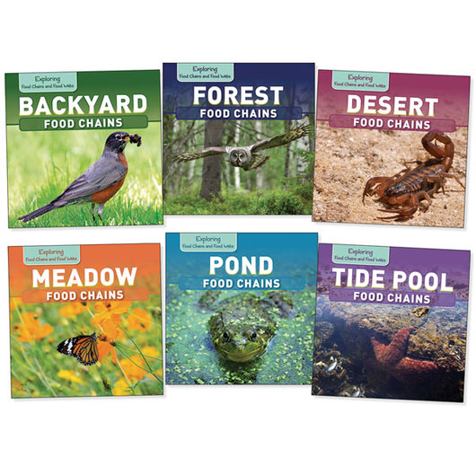 Exploring Food Chains and Webs Books - Set of 6