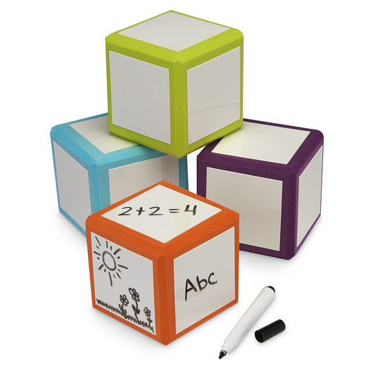 Pacon® Mind Sparks Write-on/Wipe-Off Big Blocks - Pack of 4