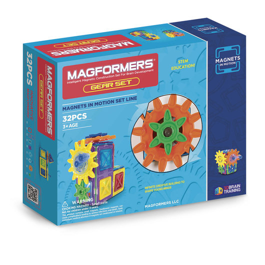 Magformers® Magnets in Motion 32-Piece Gear Set
