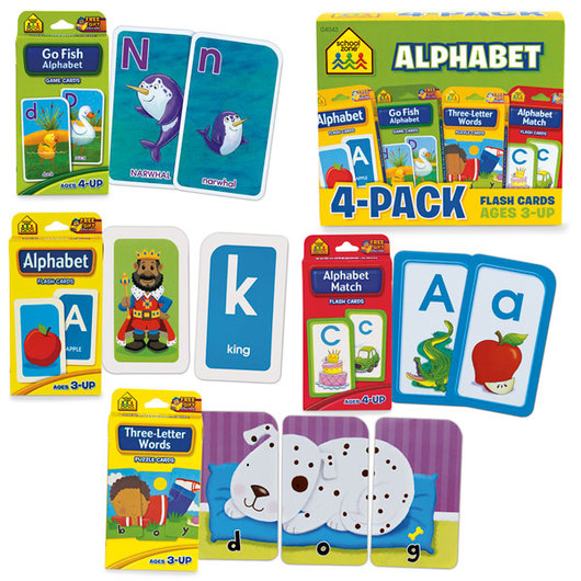 Readiness Flash Cards -  Alphabet 4-Pack