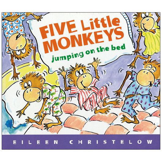 Five Little Monkeys Jumping on the Bed Book, 10-11/16 in. x 9-3/16 in.