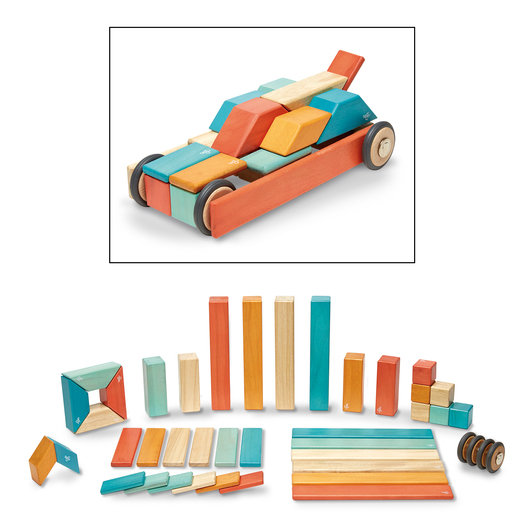 Tegu Blocks - 42-Piece Set, Sunset
