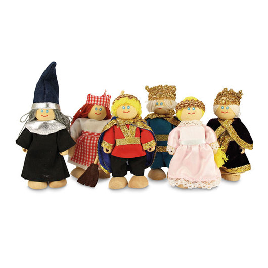 Fairy Tale Doll Set - Set of 6