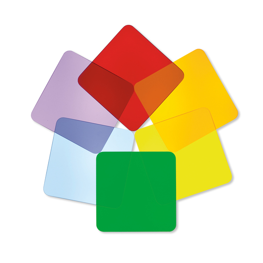 Acrylic Color Wheel Discs - Squares - Set of 6