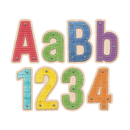 Designer Letters Bulletin Board Set - 4 in. - 211 Pieces