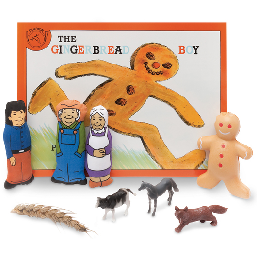 3-D Story Book Set - The Gingerbread Boy