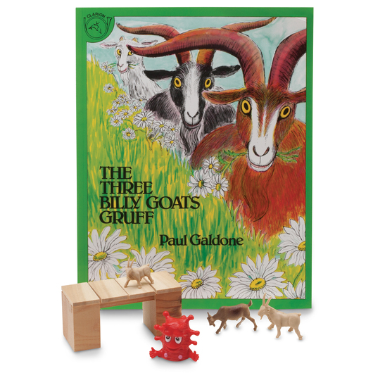 3-D Story Book Set - Three Billy Goats Gruff