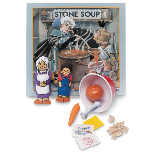3-D Story Book Set - Stone Soup