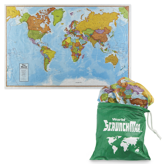ScrunchMaps - World - 36 in. W x 24 in. H