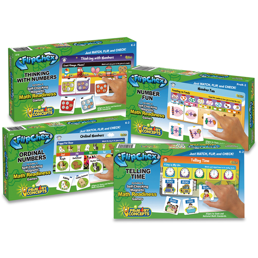 FlipChex Math - Math Readiness - Set of 4