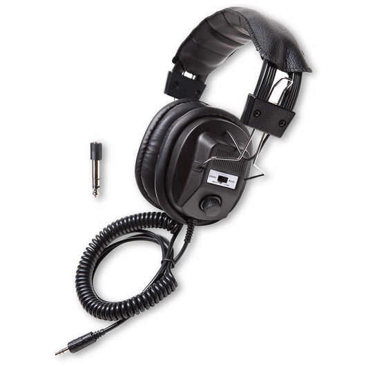 Califone® Switchable Stereo/Mono Headphones - Black
