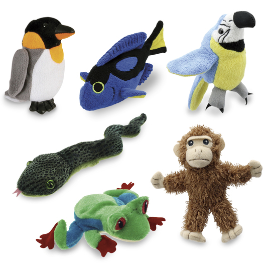 Zoo Animal Finger Puppets - Set of 6