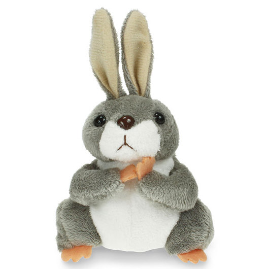 Gray Rabbit Finger Puppet