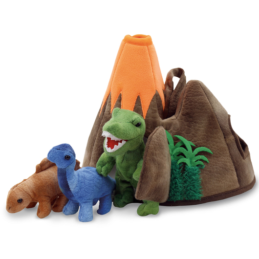Hide-Away Puppet - Dinosaur Volcano - 14 in. H