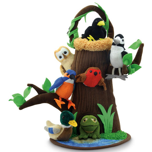 Hide-Away Puppet - Tree with Nest - 16 in. H