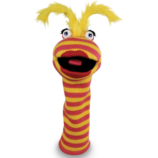 Knitted Puppet - Lipstick - 16 in.
