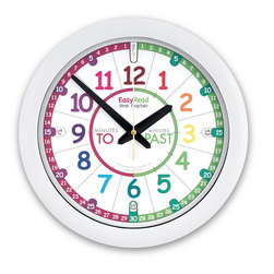 EasyRead Time Teacher Wall Clock - 14 in. dia., White
