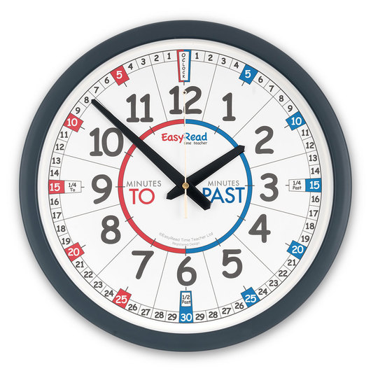 EasyRead Time Teacher Wall Clock - 14 in. dia., Black