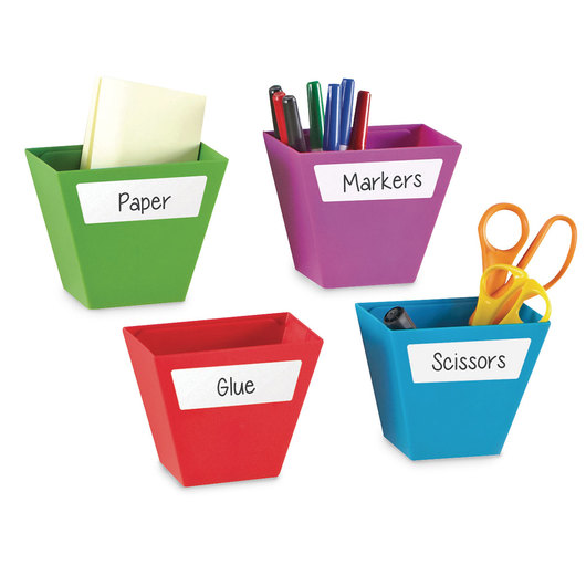 Magnetic Create-a-Space™ Storage Bins - 2 in. W x 3-3/4 in. H - Set of 4