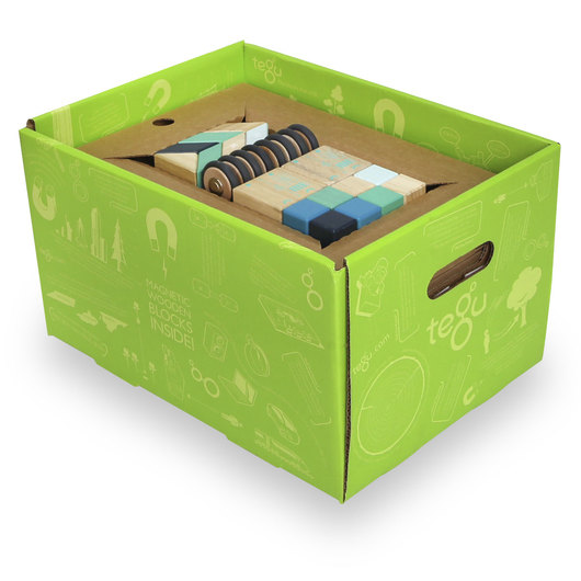 Tegu Blocks 130-Piece Future Classroom Set