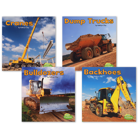 Construction Vehicles at Work Book Set