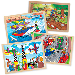 Power Puzzles Complete Set of 4