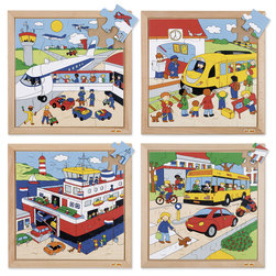 Transport Puzzles Complete Set of 4