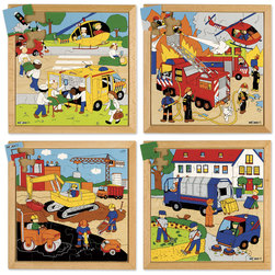 Street Action Puzzles Complete Set of 4