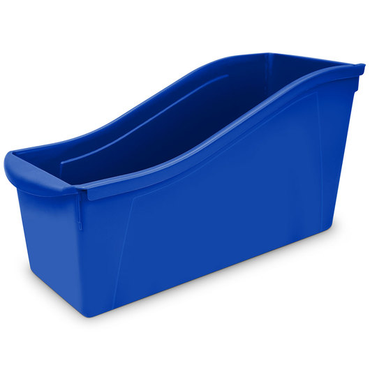 Large Book Bin - 14-5/16 in. L x 5-5/16 in. x 7 in. H - Blue
