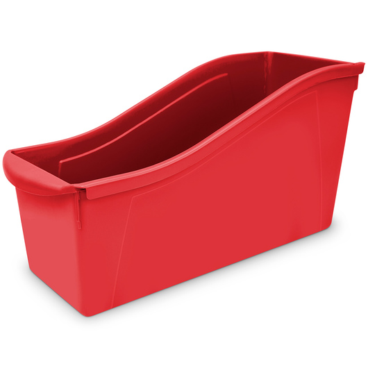 Large Book Bin - 14-5/16 in. L x 5-5/16 in. x 7 in. H - Red