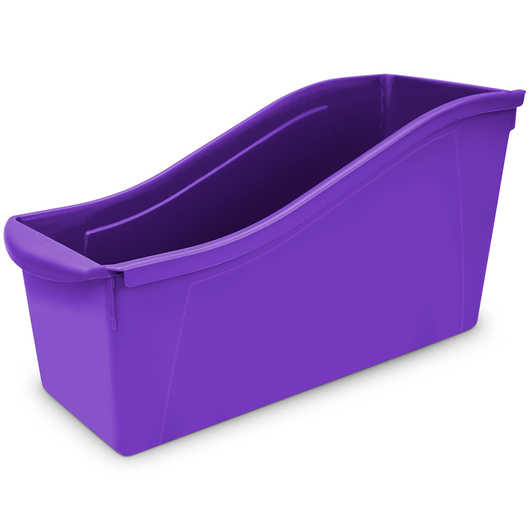 Large Book Bin - 14-5/16 in. L x 5-5/16 in. x 7 in. H - Purple