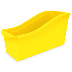 Large Book Bin - 14-5/16 in. L x 5-5/16 in. x 7 in. H - Yellow
